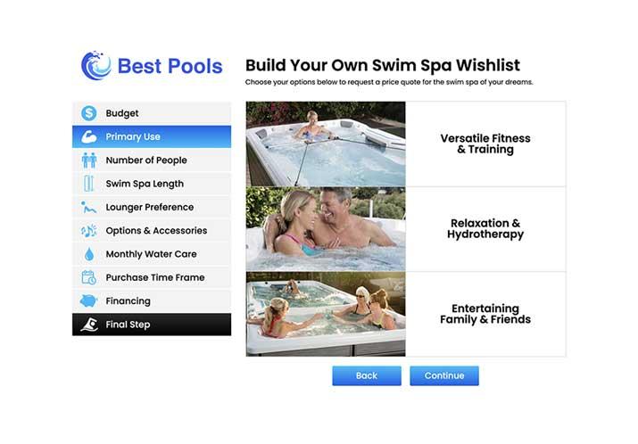 Swim Spa Wishlist
